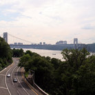 Picture - Roadway with George Washington Bridge, New York City.