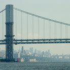 Picture - George Washington Bridge across the Hudson River in New York City.