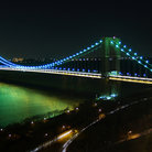 Picture - George Washington Bridge at night in New York City.