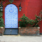 Picture - Antique entrance in Greenwich Village, New York.