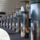 Picture - Silver Columns at Laguardia Airport in New York.