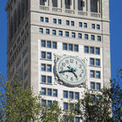 Picture - Clock tower at Madison Square in New York City.