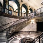 Picture - Stairs of the Museum of American Finance in New York.