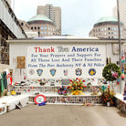Picture - A memorial at the World Trade Center Site / Ground Zero in New York City.