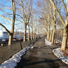 Picture - Walkway at Riverside Park, New York City.