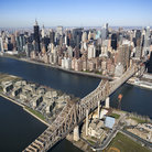 Picture - An aerial view of Roosevelt Island in New York.