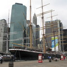 Picture - South Street Seaport in New York City.