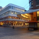 Picture - Buildings in South Street Seaport, New York City.