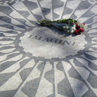 Picture - Lennon Memorial in Central Park.