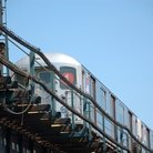 Picture - Elevated subway train, Bronx.