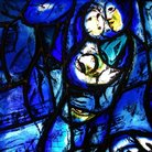 Picture - Chagall stained glass window in the United Nations building in New York City.