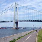 Picture - The Verrazano Bridge in Brooklyn, New York.