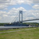 Picture - Carrier at the Verrazano Narrows Bridge.