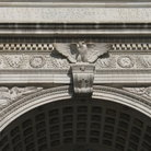 Picture - Detail of Washington Square arch in New York City.