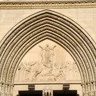 Picture - Carved entrance to the Cathedral Basilica of the Assumption in Newport.