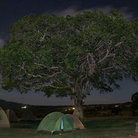 Picture - Camping at night in Ngorongoro Park.