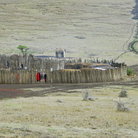 Picture - Masai kraal in the Ngorongoro Conservation Area.