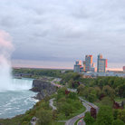 Picture - Niagara Falls and the skyline of the city of Niagara Falls.