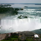 Picture - Aerial view of the horseshoe falls at Niagara Falls.