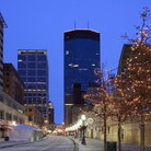 Picture - Christmas lights in the Nicollet Mall area in Minneapolis.