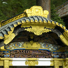 Picture - Roof of a Buddhist Temple in Nikko.
