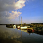 Picture - Boats at Norfolk Broads.