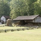 Picture - A barn at the Museum of Appalachia in Norris.