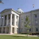 Picture - Front facade of the North Carolina State Capitol in Raleigh, North Carolina.