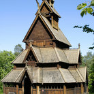 Picture - The stave church from Gol at the Norwegian Folk Museum in Oslo.