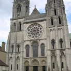 Picture - Gothic Chartres Cathedral was rebuilt between 1195 and 1220.