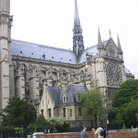 Picture - Notre Dame showing towers & Gothic elements, Paris.