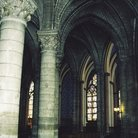 Picture - The interior of Notre Dame in Paris.