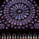 Picture - Rose window detail of south transept, Notre Dame, Paris.