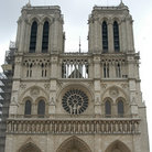 Picture - The west front of Notre Dame in Paris.