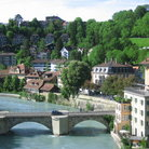 Picture - The Nydegg quarter along Aare river in Bern.
