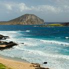 Picture - Stretch of beach and island near Makapuu Beach Park, Oahu.