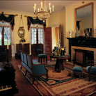 Picture - Formal livingroom at Oak Alley Plantation.