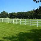 Picture - White fence around grounds of Oak Alley Plantation.