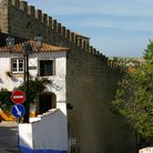 Picture - House and ancient wall in Obidos.