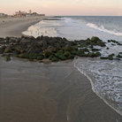 Picture - The beach at Ocean Grove at sunset.