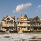 Picture - Victorian houses in Ocean Grove, New Jersey.