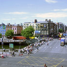 Picture - View over the O'Connell Bridge in Dublin.