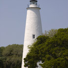 Picture - Ocracoke Lighthouse in the Ocracoke village, North Carolina.