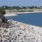 Picture - The shoreline of Lake Maconahey in Ogallala.