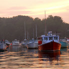 Picture - Fishing boats at sunset at Perkins Cove.