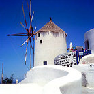 Picture - Windmill in Oia on Santorini (Sandorini).
