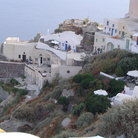 Picture - View of Oia on the hillside.