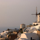 Picture - Oia with windmill on Santorini.