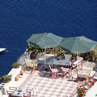 Picture - Patio on Caldera Bay at Oia.