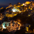 Picture - View of Oia, Santorini at night.